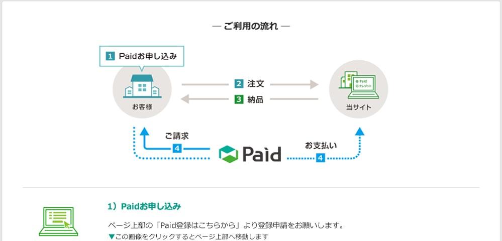 1)Paidお申し込み お申し込み後、Paid規定の審査があります。(即日〜3営業日以内)