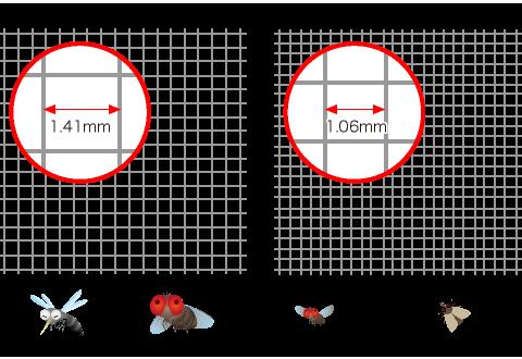 チョウバエ 1〜4mmコバエ 1〜2mmハエ 4〜8mm蚊 4〜6mm