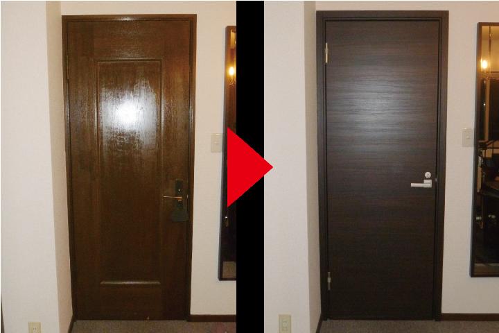 室内防音ドアのカバー工法