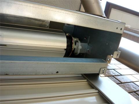 電動シャッター化工事の施工の流れ:電動ユニット