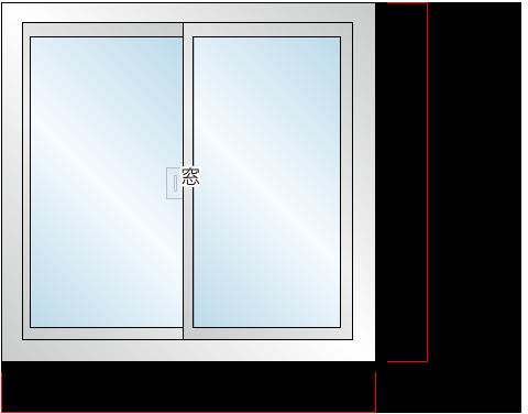 電動シャッター新設工事:窓の計測