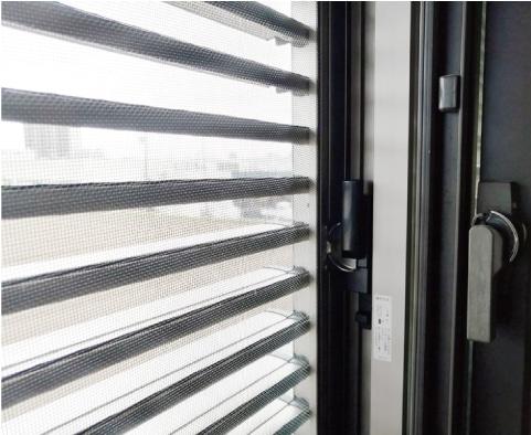 エコ引き違い雨戸:網戸としても使えます。