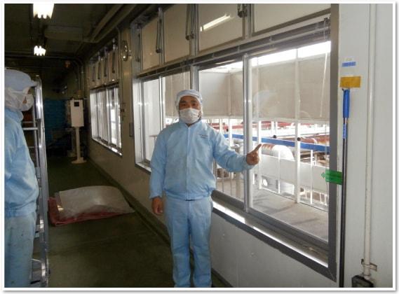 エコ窓導入事例:L社 アイスクリーム工場 様