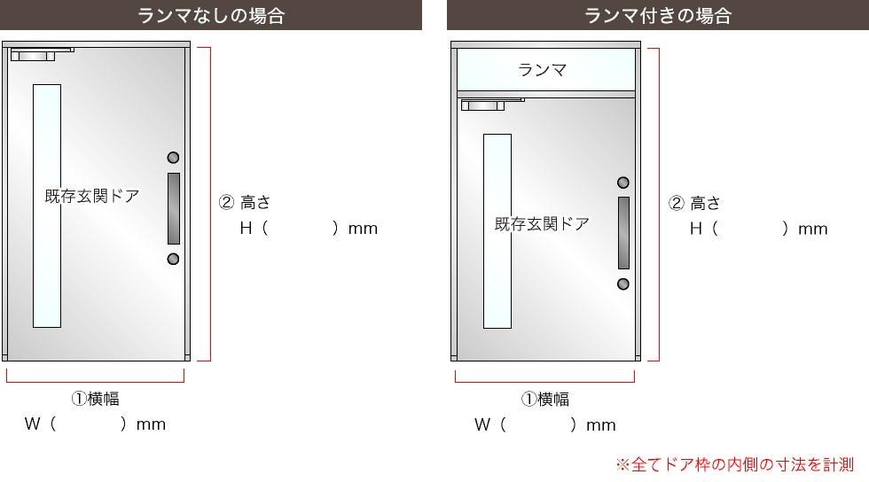 玄関ドア計測