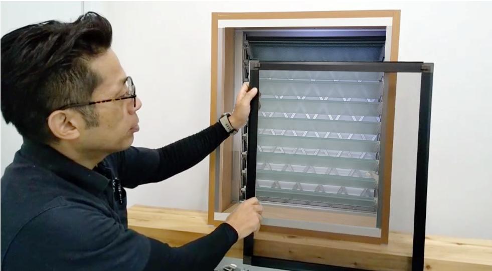 オーダーメイドガラスルーバー窓(ジャロジー窓)用網戸のDIY