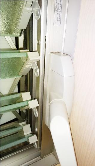 ご自宅のガラスルーバー窓(ジャロジー窓)を撮影ください。:ハンドル廻り