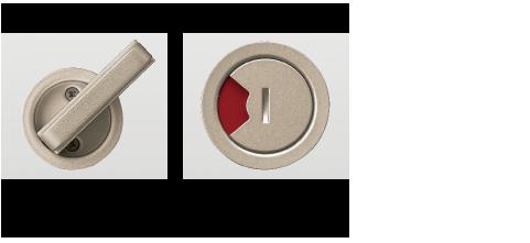 リノバ室内引戸の錠(大型サムターン表示錠)