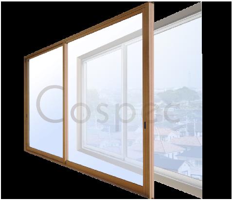 内窓の取り付け:既存窓に内窓を取り付け