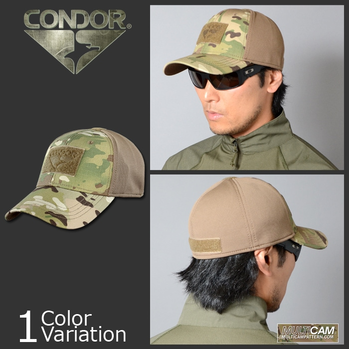 CONDOR OUTDOOR(コンドル アウトドア) Flex Tactical Cap with MultiCam フレックス タクティカル  キャップ 161080-008-ミリタリーショップ専門店 SWAT