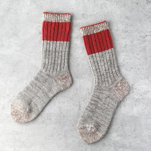 「ざっくり編み」くつした