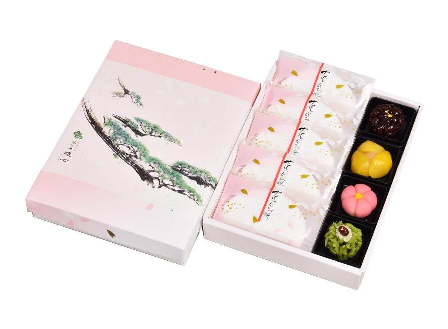 花びら餅と上生菓子詰合せ(松)9個