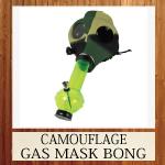 CAMOUFLAGE GAS MASK BONG