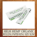 HIGH HEMP ORGANIC ROLLING PAPER KING SIZE SLIM