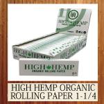 HIGH HEMP ORGANIC ROLLING PAPER 1-1/4 SIZE