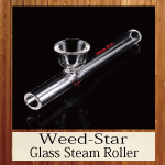 Weed-Star Glass Steam Roller