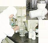 原料乳検査・貯乳→清浄