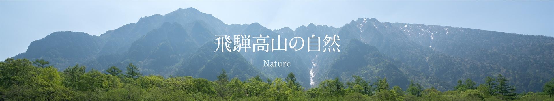 飛騨山脈の自然の恵み
