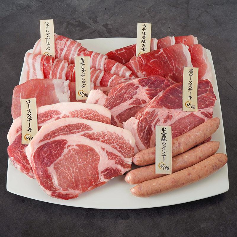 【ギフト】氷温熟成氷室豚一頭食べ尽くしセット(豚肉計約1.3kg)