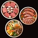 【肉鮮蒸し】セイロ3段組(直径20cm)3〜4人分(にくせんむし)