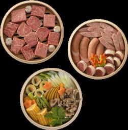 【肉鮮蒸しMAX(にくせんむしMAX)】セイロ3段組(直径24cm)4〜5人分