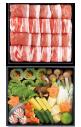 【旬菜お重セット】氷室豚しゃぶしゃぶ(バラ約300g)(モモ約300g)+旬のお野菜