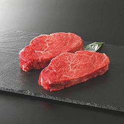 ステーキ用 国産黒毛和牛赤身ヒレ(約150g × 2枚)