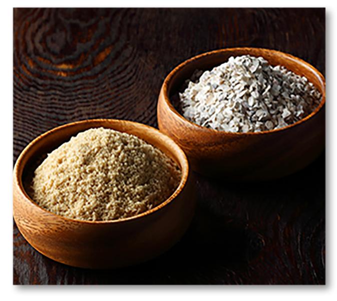 米糠と牡蠣殻イメージ