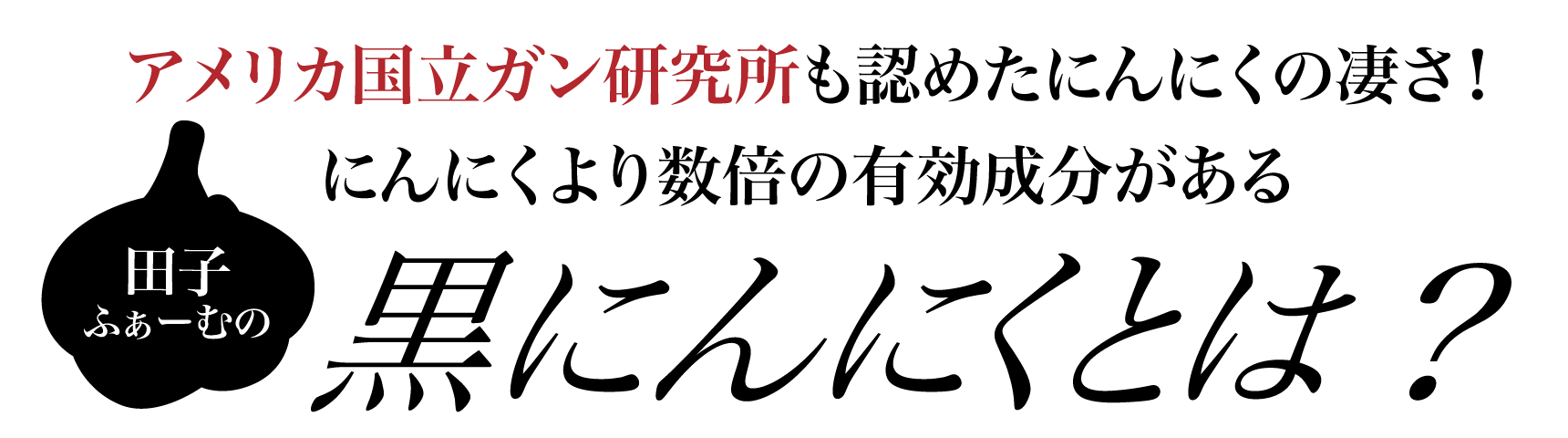 田子ファームの黒にんにくとは
