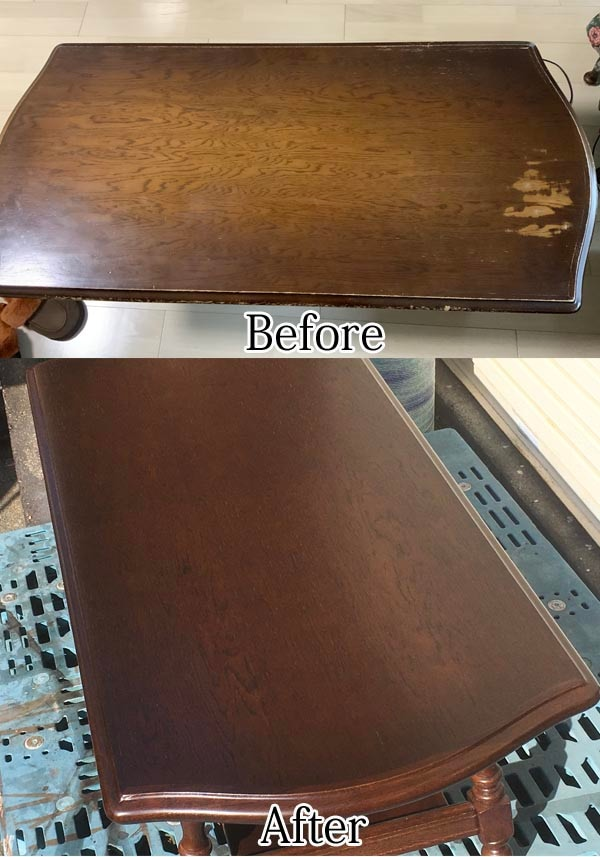 センターテーブルの塗り直し