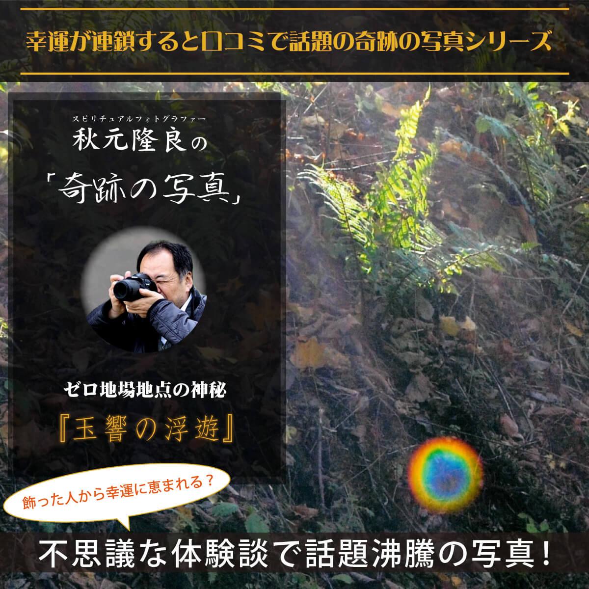 【奇跡の写真】玉響の浮遊 ≫飾るだけで幸運が連鎖すると話題!秋元隆良の開運フォト作品 開運グッズ