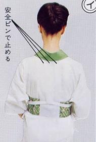 ワンタッチ半襟の着用方法