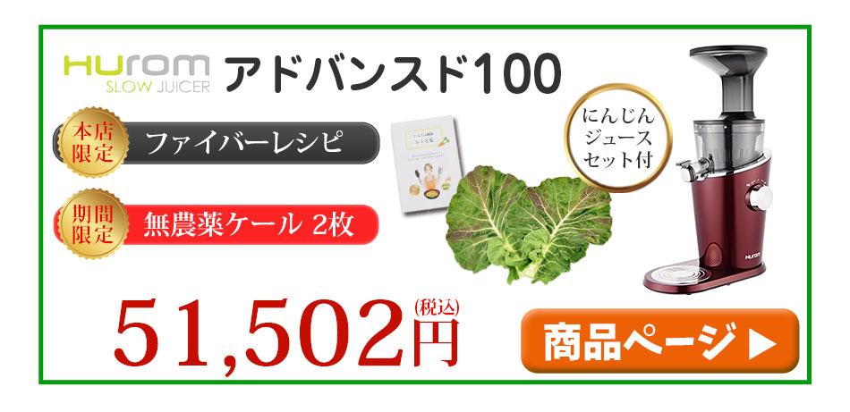ヒューロムスロージューサーアドバンスド100(ケール2枚)