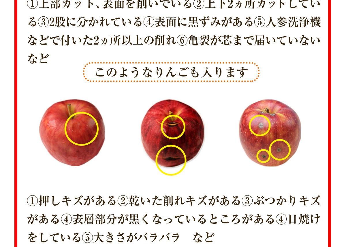 このようなりんごも入ります