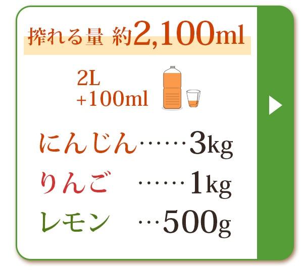 人参3kg+りんご1kg+レモン500g