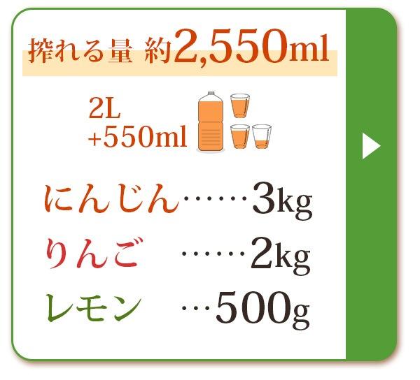 人参3kg+りんご2kg+レモン500g