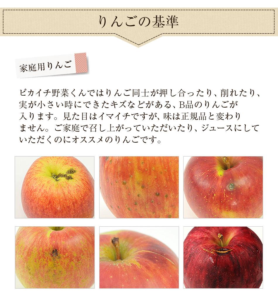 ご家庭で召し上がっていただいたり、ジュースにしていただく用の家庭用のりんごとなっております。