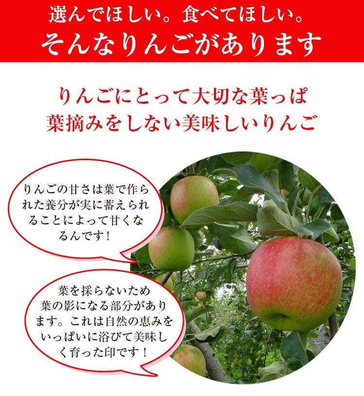 選んでほしい食べてほしいりんごがあります