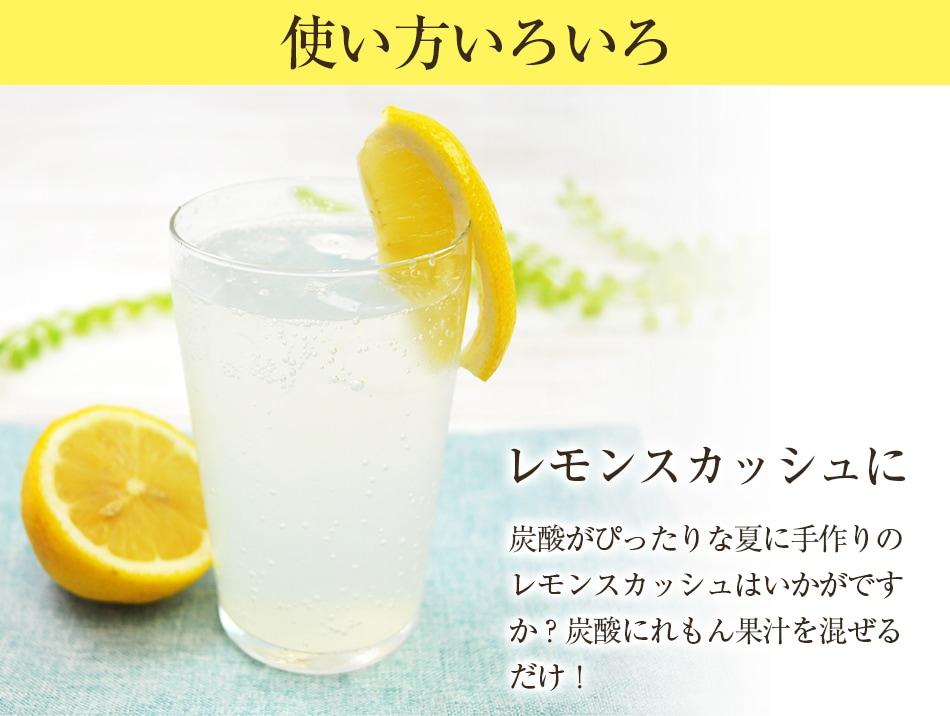 暑い夏に国産のレモン果汁を入れたレモンスカッシュはいかがですか?