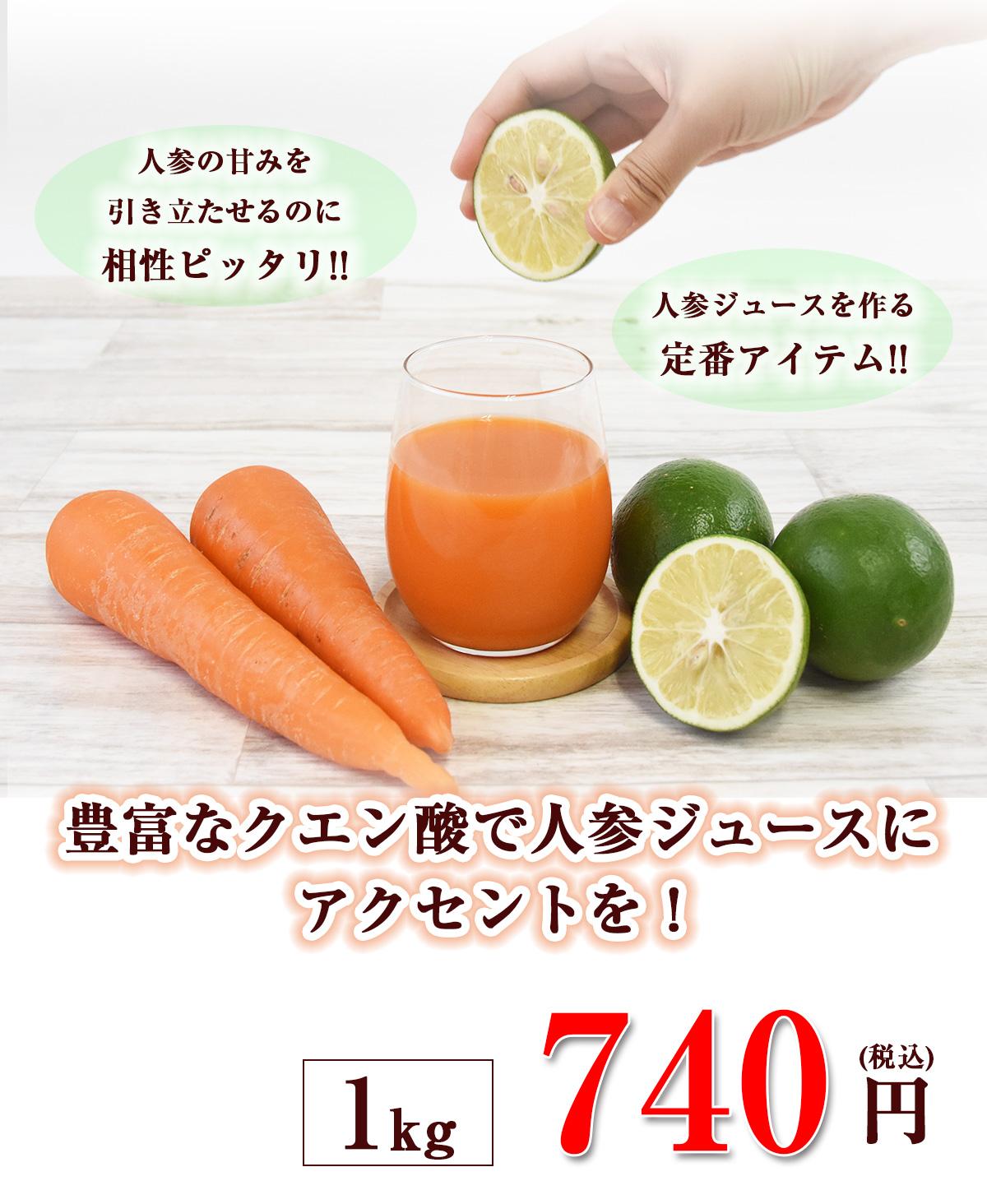 クエン酸で人参ジュースにアクセント 1kg(グリーン)