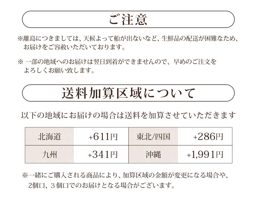 送料加算区域(100サイズ・クール)
