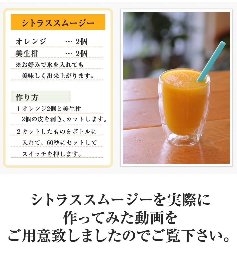 シトラススムージーレシピ