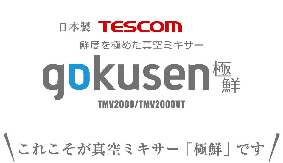 鮮度を極めた真空ミキサー「極鮮 gokusen」TMV2000