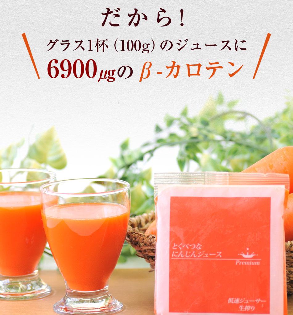 だからグラス1杯のジュースに6,900μgのβ-カロテン