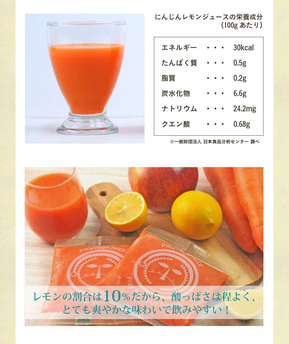 レモンの割合は10%だから酸っぱさは程よく、とても爽やかな味わいで飲みやすい