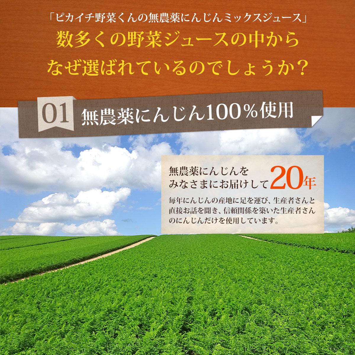無農薬にんじん100%使用