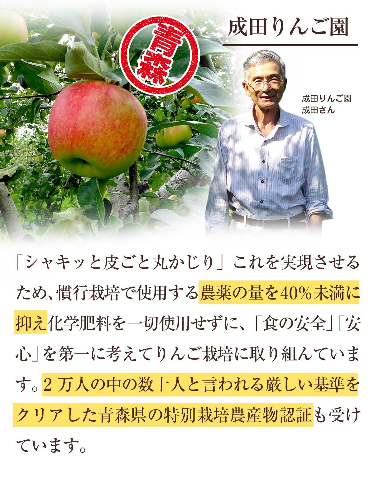 特別栽培農産物のりんご(成田りんご園)
