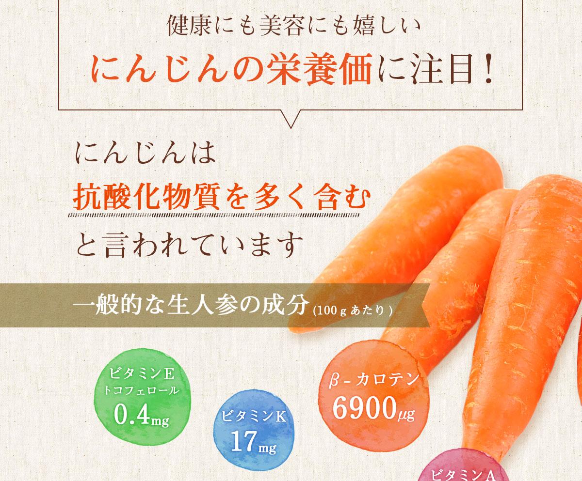 にんじんの栄養価に注目