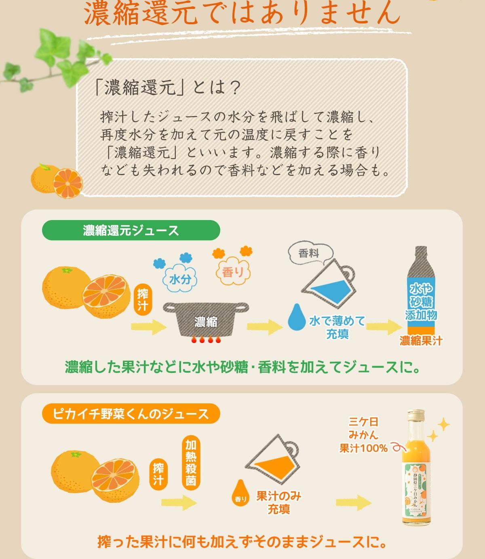 無添加・無加糖・無加水 水や砂糖、添加物も一切加えず搾った100%ストレースジュース