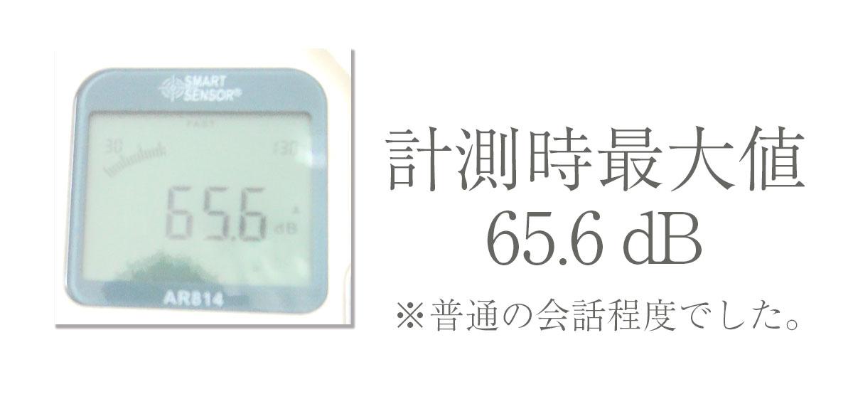 計測時最大値 65.6dB