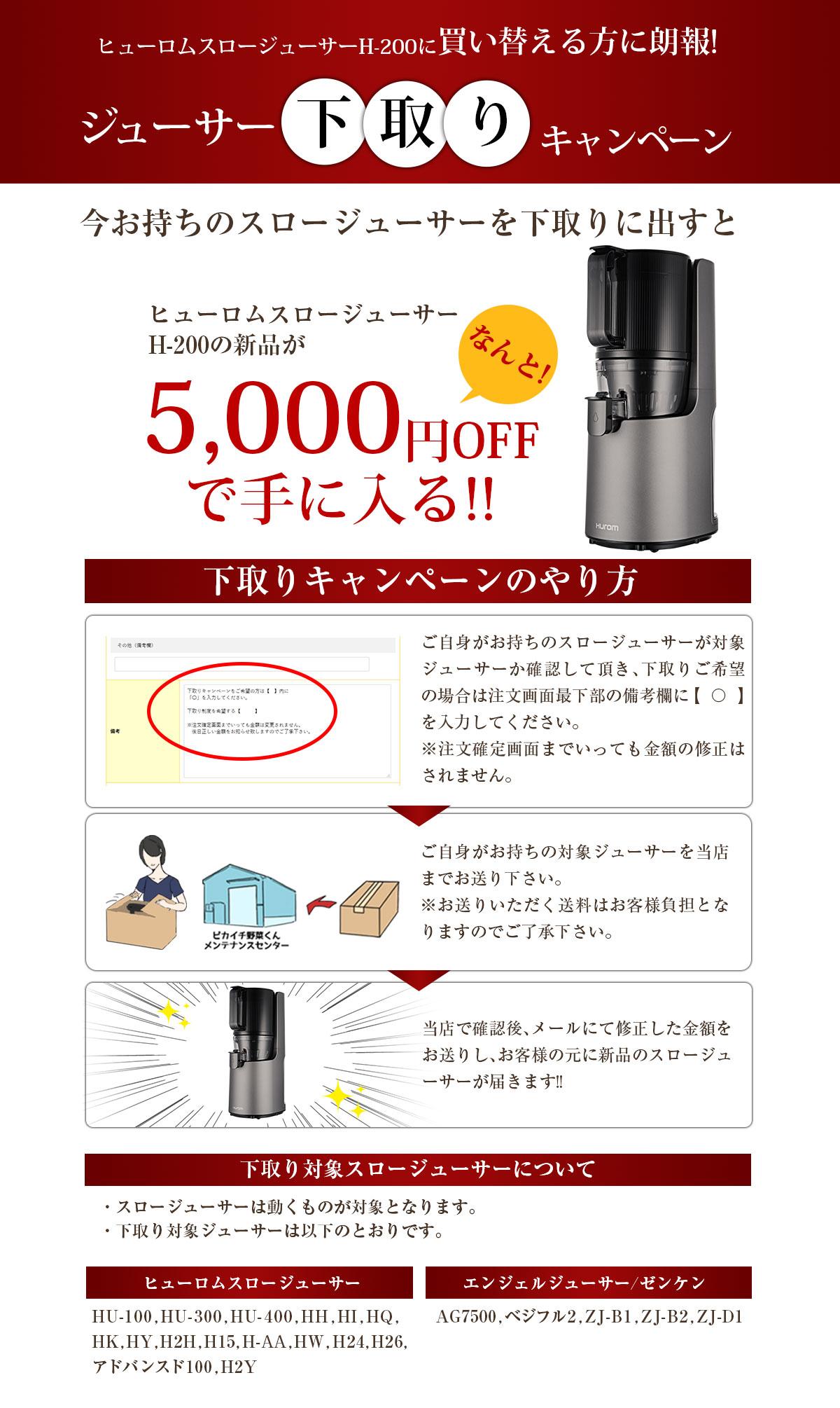 下取りで5,000円OFF